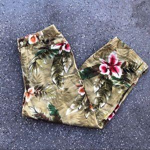Chico's Vintage Floral Capri Culottes